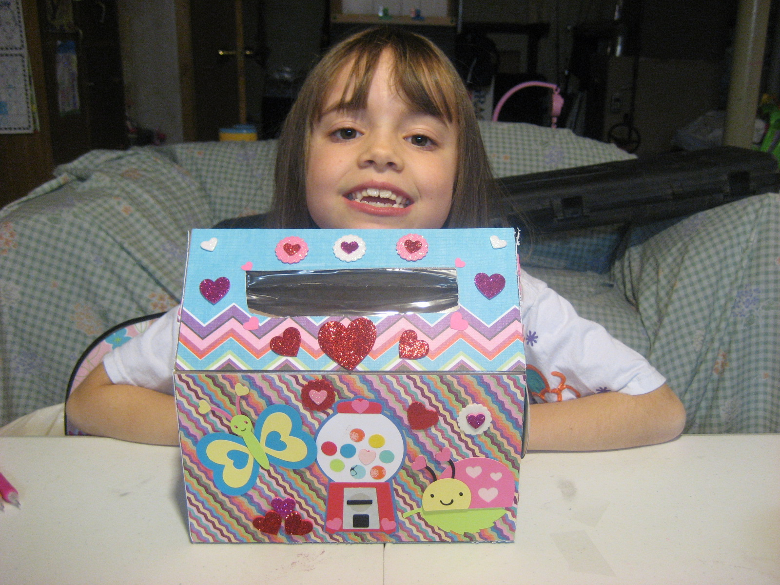 My Daughters Box Room Right Side: Scrappinlils Creative Side: Altered Hand Towel Box Made