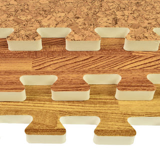 Greatmats Wood Grain Foam Tiles basements