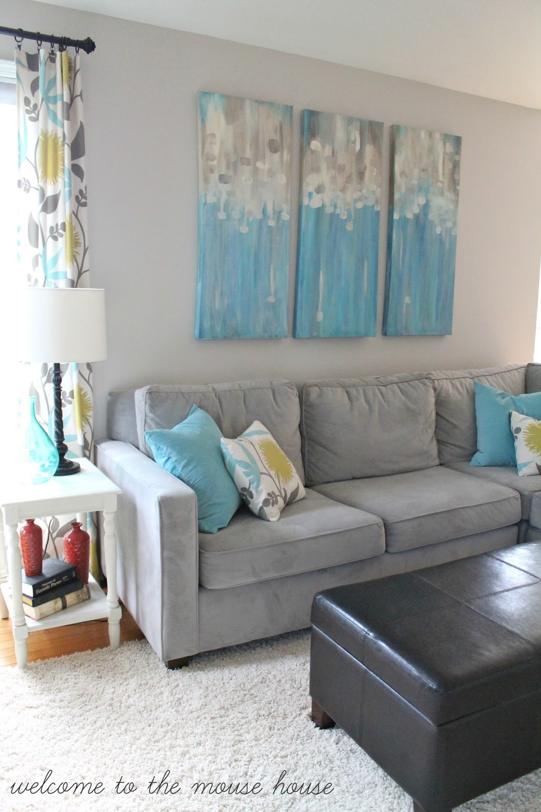 Gray And Turquoise Living Room Decorating Ideas: The New Family Room Reveal