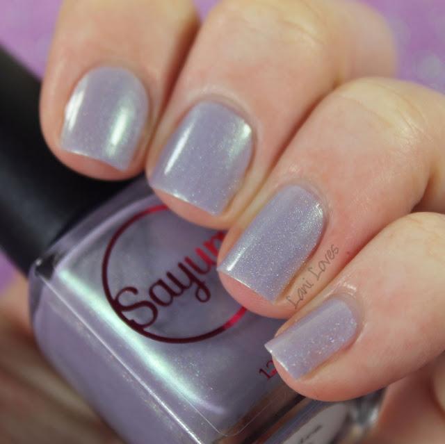 Sayuri Nail Lacquer - Licorice Laces nail polish swatches & review