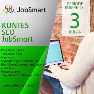 Kontes SEO jobsmart.co.id Mulai Agustus Deadline November 2017