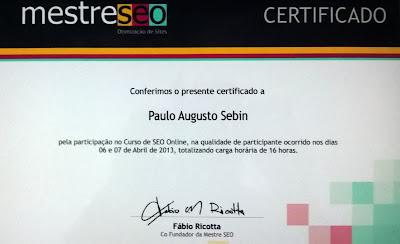 Certificado básico de SEO