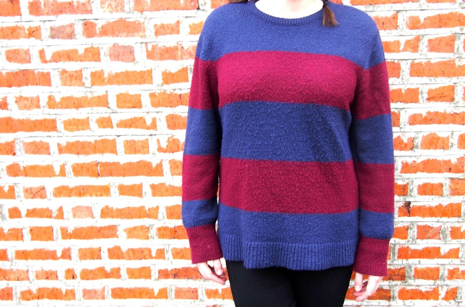 Blue & Red Striped Jumper