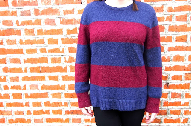 Blue & Red Striped Jumper