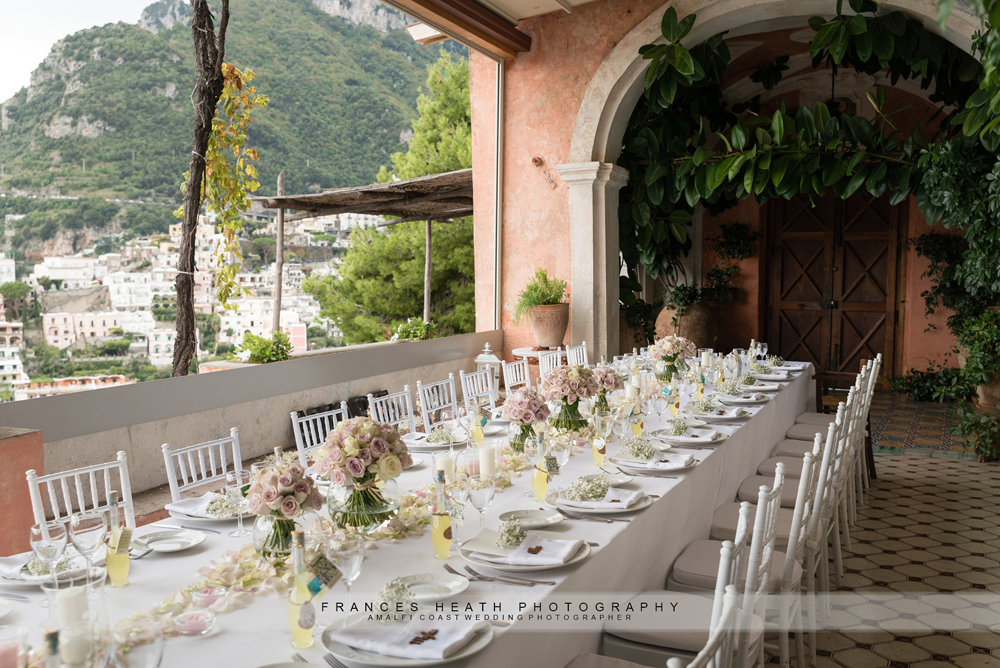 Wedding reception in Positano