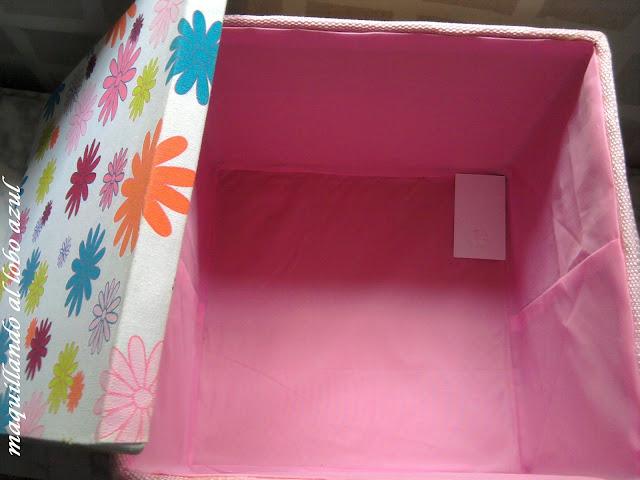 Caja organizadora de mimbre, cuero  y tela