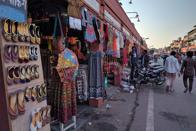 Shopping streets in Jaipur