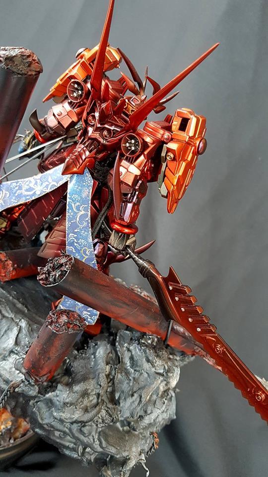 Custom Build: HG 1/144 Sengoku Astray Gundam + Diorama - Gundam Kits Collection News and Reviews