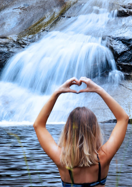 girl in waterfall