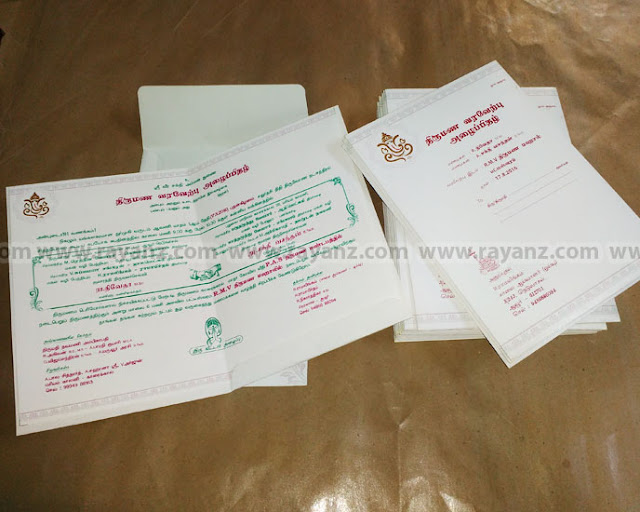 Wedding invitation card printing in Chennai