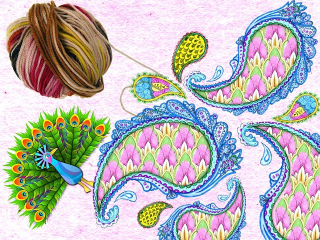 Plumas de pavo real a crochet y como se tejen 1003 ideas