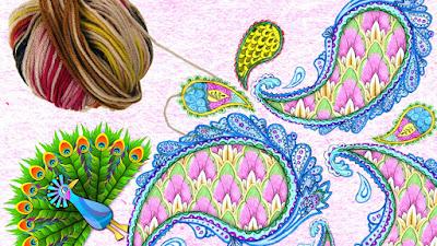 Plumas de pavo real a crochet y como se tejen con 1003 ideas