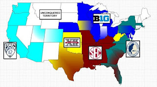 Chunking Collegiate Sports Conferences (image credit in link)