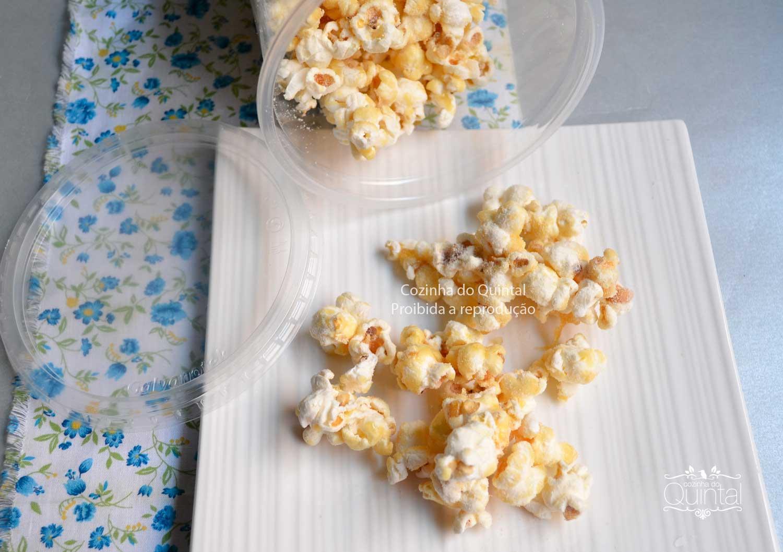 Pipoca Gourmet de Leite Ninho na Cozinha do Quintal
