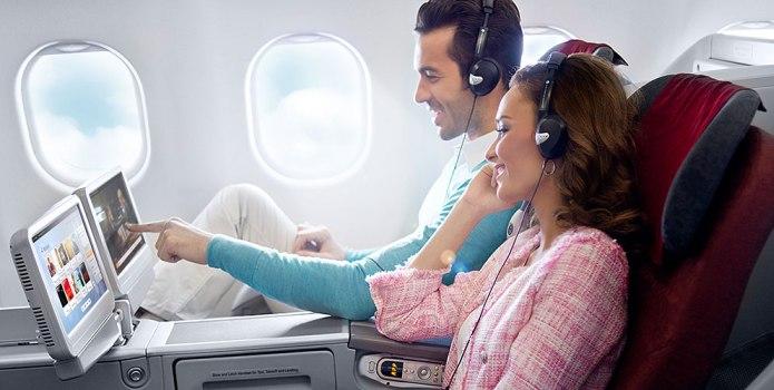 تطور أساليب المتعة علي متن الطائرات