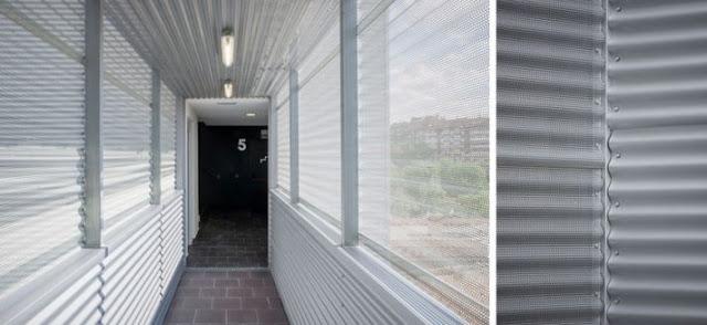 Residencial Los olivos, Fachada con panel composite, fachada con minionda, Fachada tecnológica, Arquitectura Singular, El hábito de hacer las cosas bien