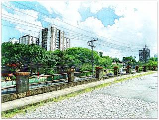 Avenida Plínio Brasil Milano Vista da Praça dos Gusmões - Vila IAPI, Porto Alegre