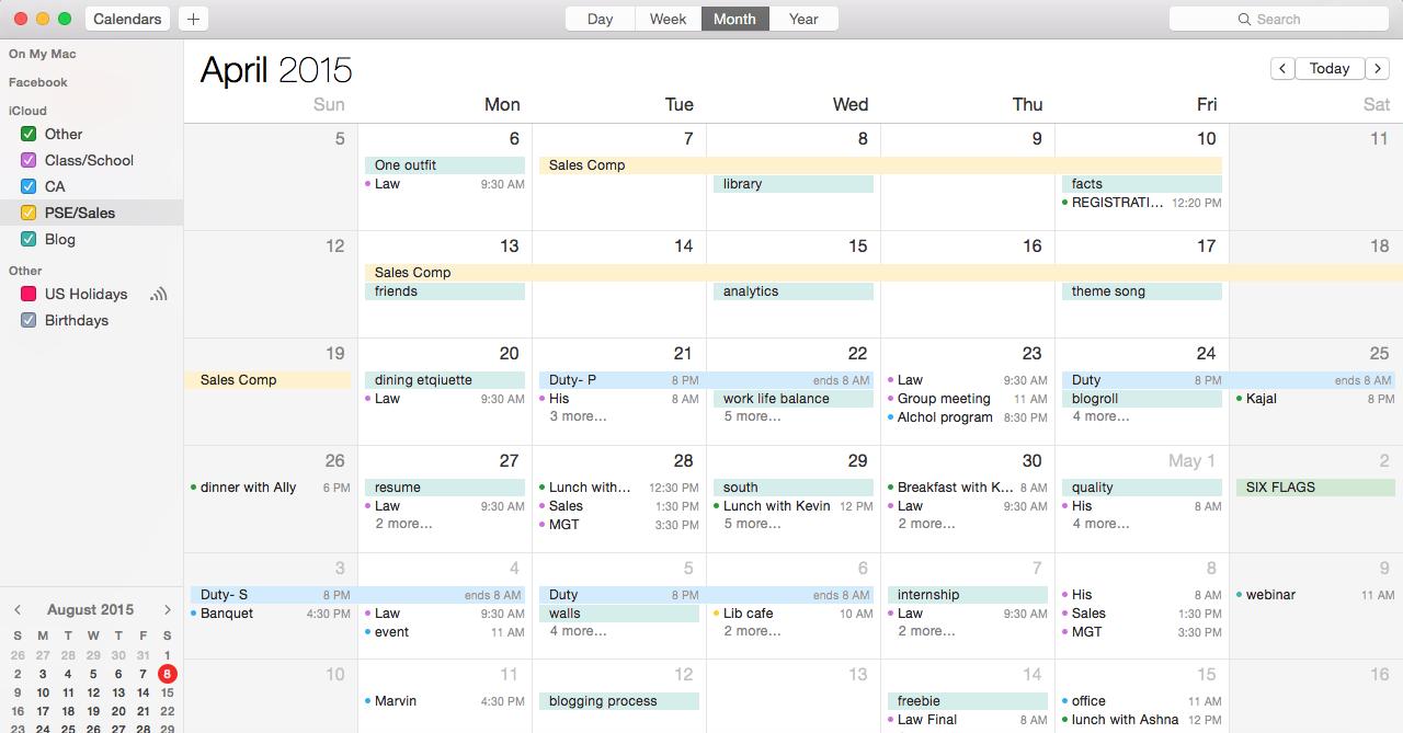 Digital Minimalism: Calendar | http://www.alyssajfreitas.com/2015/08/digital-minimalism-calendar.html