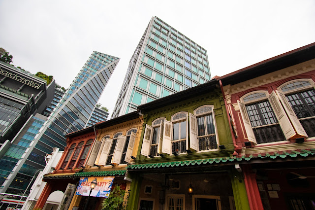 Emerald hill road-Case coloniali colorate-Singapore