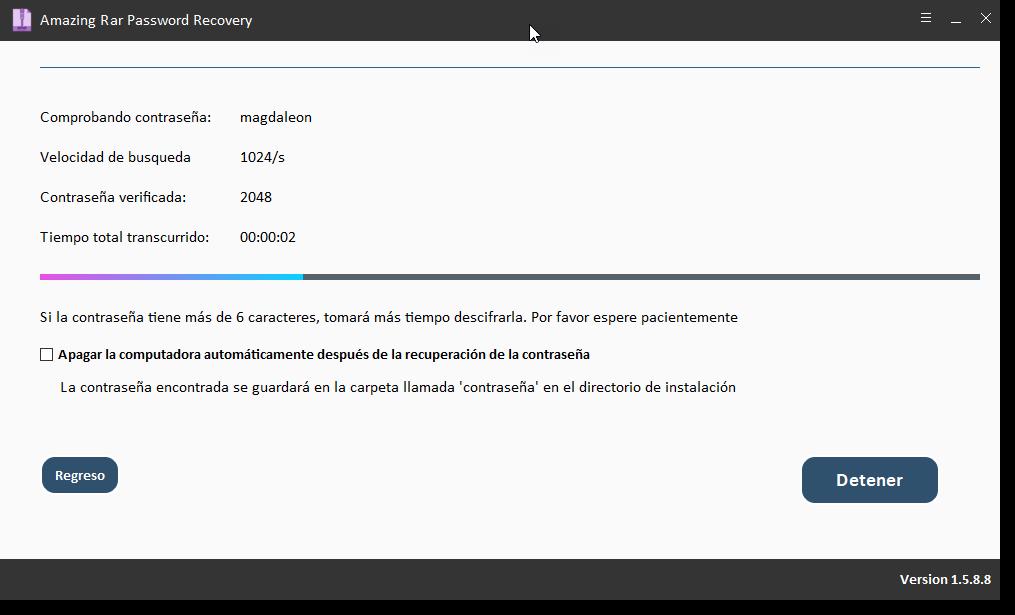 Amazing Rar Password Recovery Descifrar Contraseña de Archivos RAR