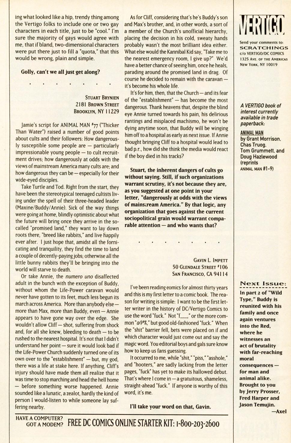 Read online Animal Man (1988) comic -  Issue #81 - 27
