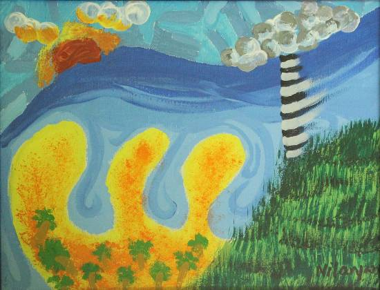 Temperamental Coast, painting by Nilanjan Datta (part of his portfolio on www.indiaart.com)