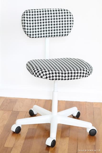 cadeira reformada com tecido