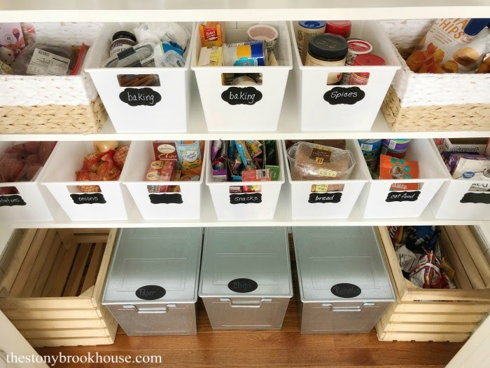 Organizing with bins and storage containers