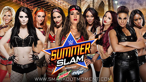 WWE SummerSlam 2015 PCB vs Team BAD vs Team Bella