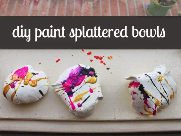 Scrumdilly Do Diy Paint Splattered Bowls