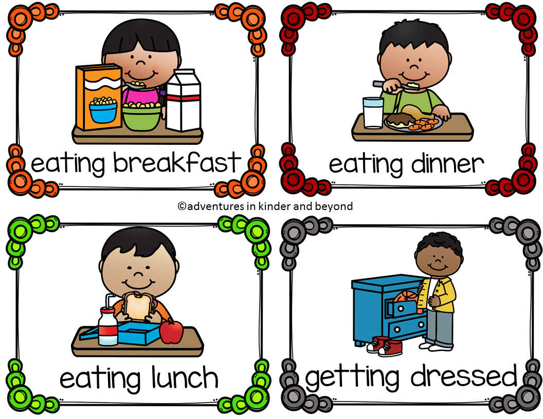 Adventures In Kinder And Beyond Daily Routines Nouns And