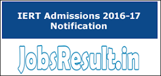 IERT Admissions 2016-17 Notification