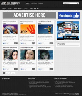jhony template,blogger template