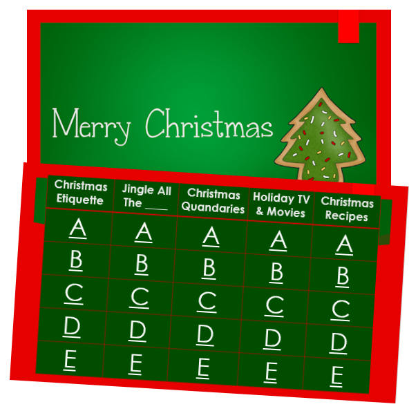 jeopardy style christmas game - Christmas Jeopardy Game