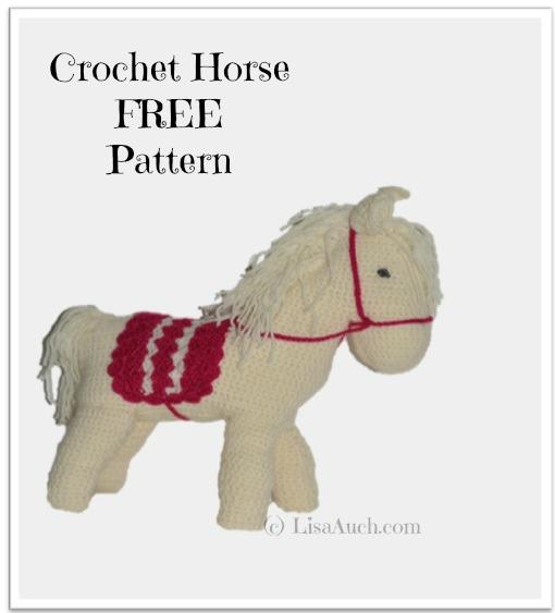 free crochet horse pattern, crochet horse, free pattern