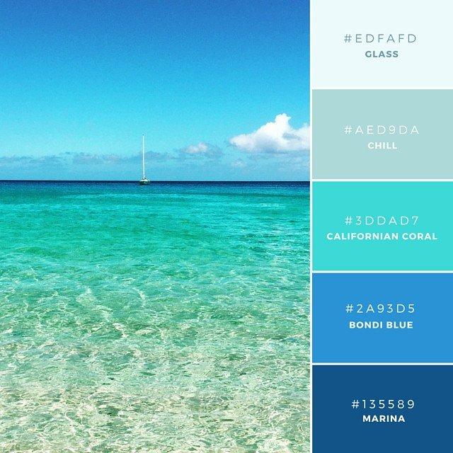 Xanh màu nước biển
