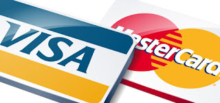 We accept Visa / Mastercard