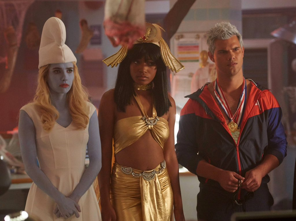 chanel zayday taylor lautner scream queens halloween blues