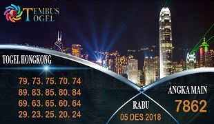 Prediksi Angka Togel Hongkong Rabu 05 Desember 2018