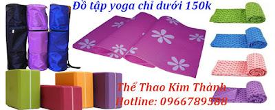Mua ngay thảm tập yoga - đồ tập yoga Kim Thành chỉ dưới 150k