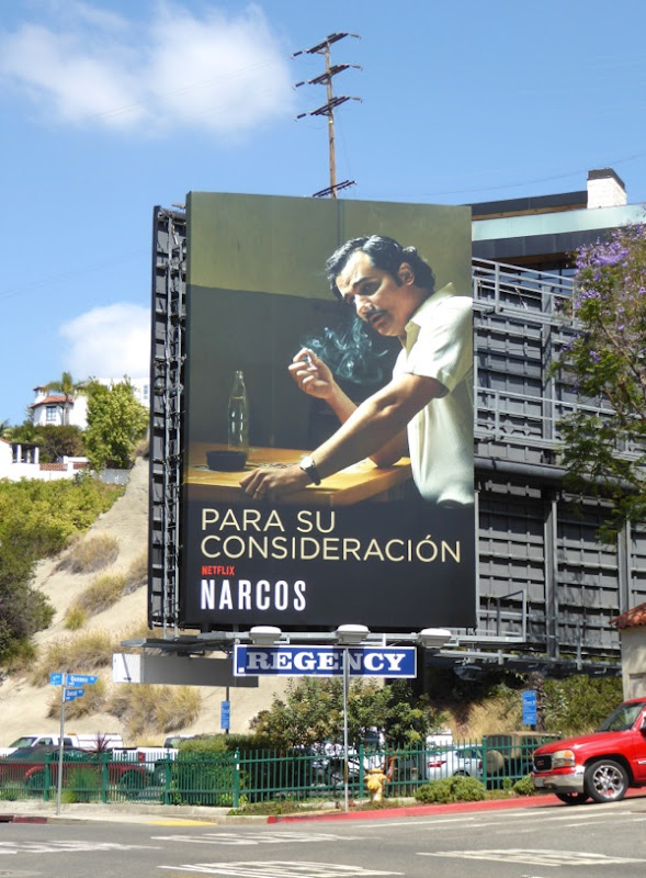Narcos 2016 Emmy FYC billboard
