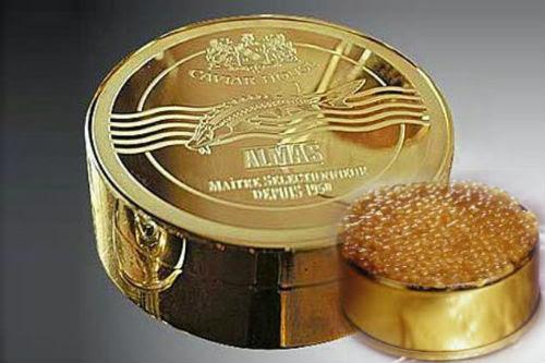 Almas beluga kaviar - AS$28,000 (RM93,701)