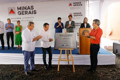 MG: Romeu Zema inaugura estação de tratamento de esgoto em Pirajuba