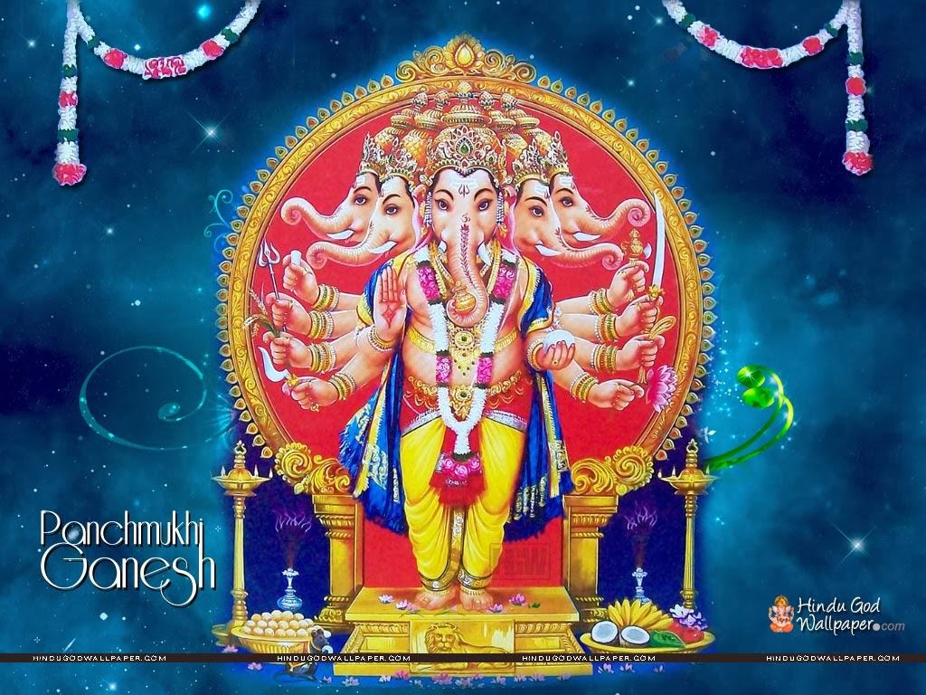 Panchmukhi Ganesh Wallpaper Hd Panchmukhi Ganesha Hindu God Wallpapers Download