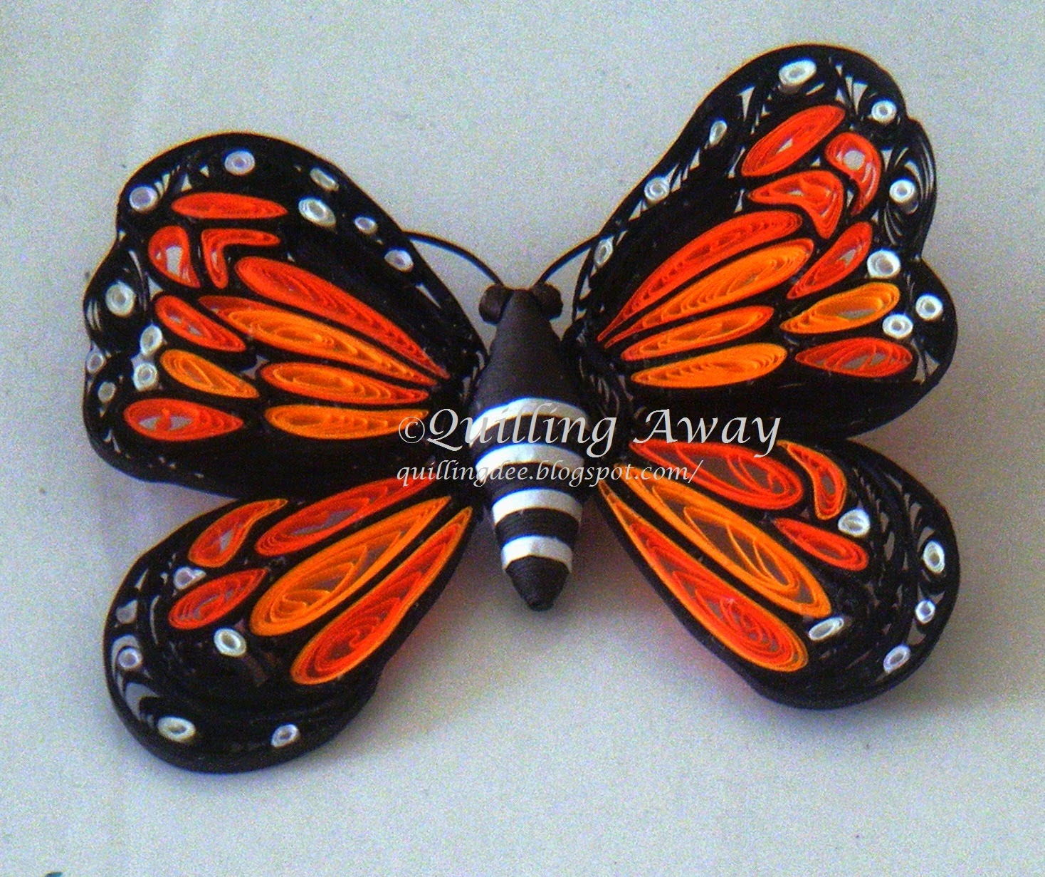 how to make a paper butterfly quilling away quilled monarch butterfly 7790