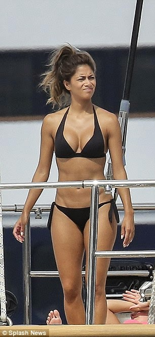 Nicole Scherzinger bikini on yacht in Monaco with Lewis Hamilton 1
