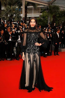 Sonam Kapoor at Cannes Red Carpet stills