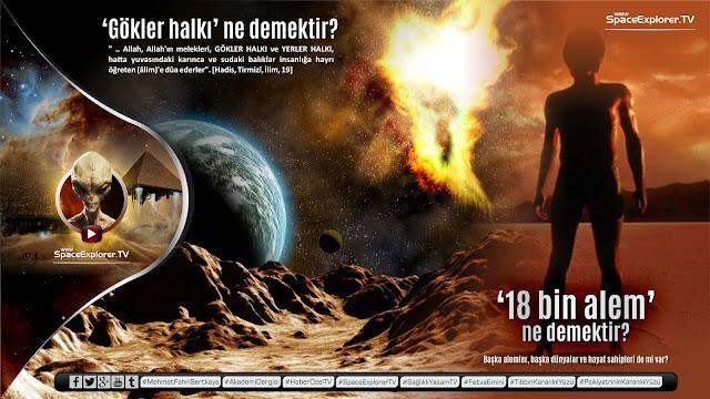 18.000 alem, Ayet ve Hadisler, Dabbe, Diğer alemler, Diğer gezegenlerin insanları, Gökler halkı, Hadislerde uzay, Kur'anda uzay, Space Explorer, Uzayda hayat var mı?,