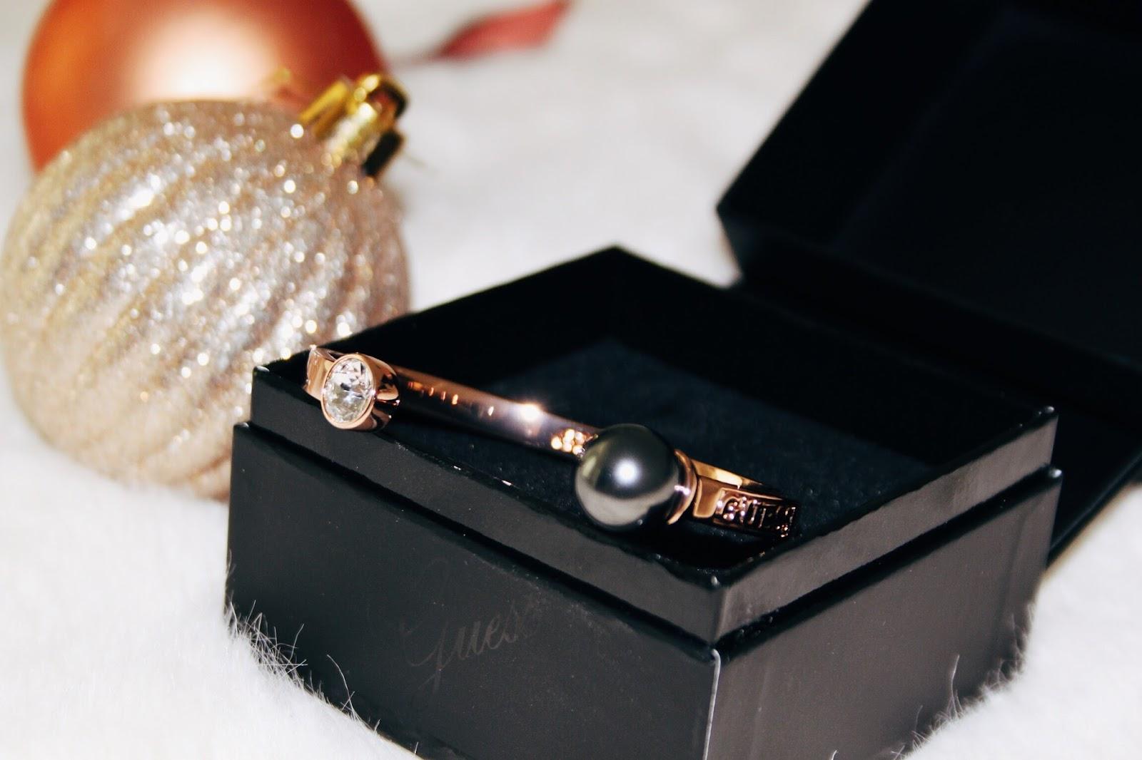 guess rose gold bangle