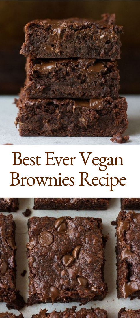Best Ever Vegan Brownies Recipe #chocolate #desserts